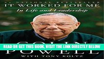 [READ] EBOOK It Worked for Me: In Life and Leadership ONLINE COLLECTION