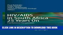 [FREE] EBOOK HIV/AIDS in South Africa 25 Years On: Psychosocial Perspectives ONLINE COLLECTION