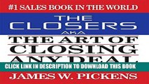 Best Seller THE CLOSERS aka THE ART OF CLOSING ANY DEAL Free Read