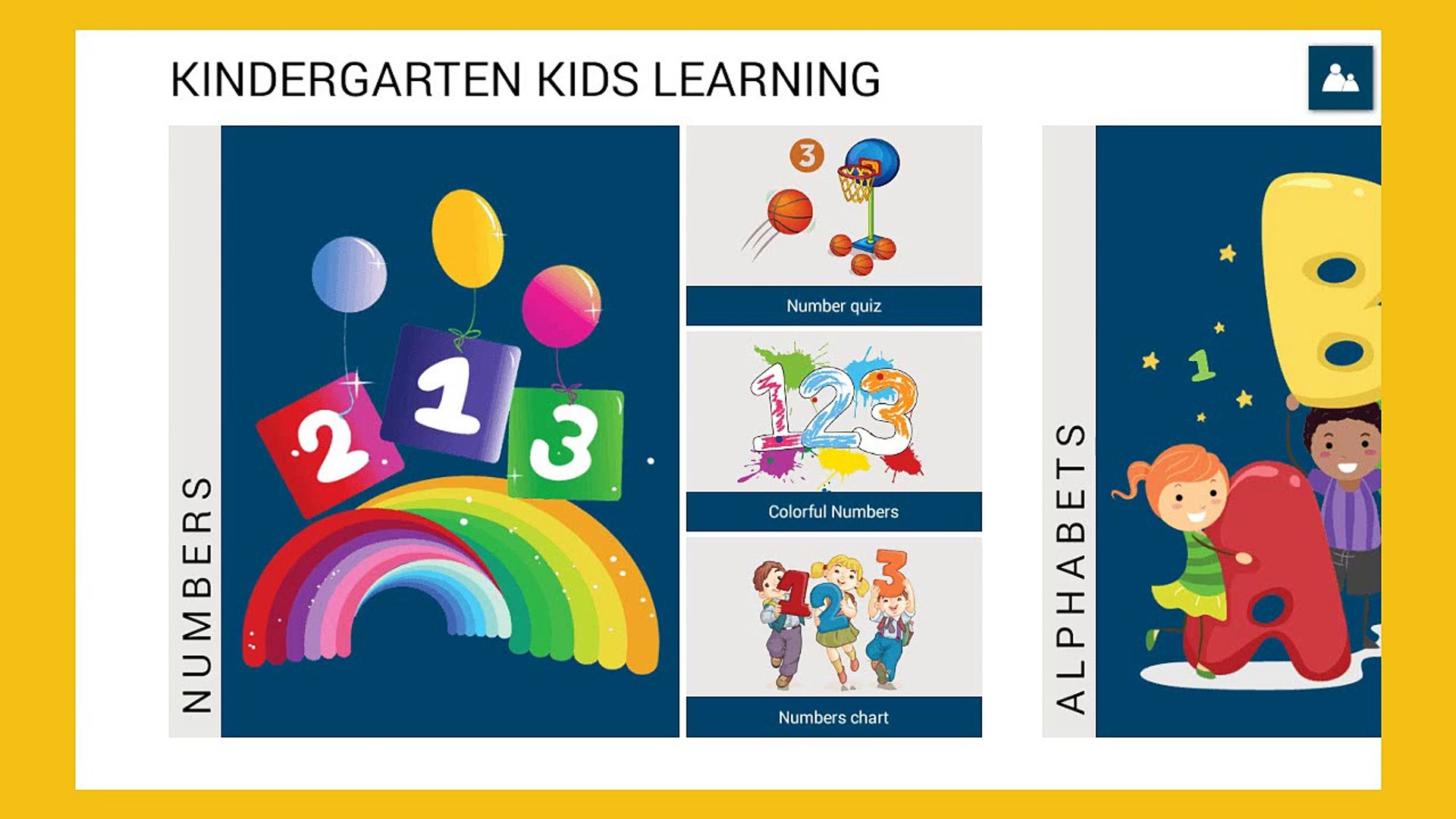 Kindergarten Kids learning - Kids learn Alphabet and Numbers - Education app for Kids