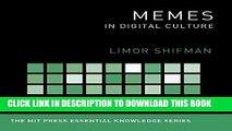 [PDF] Memes in Digital Culture  ( MIT Press Essential Knowledge Series) Popular Colection