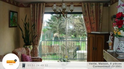 A vendre - Maison/villa - Cormontreuil (51350) - 6 pièces - 100m²