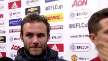 Man United 1-0 Man City - Ander Herrera & Juan Mata Post Match Interview