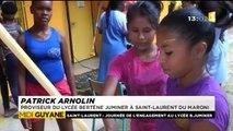 Reportage de ma nièce Alice pour Midi 1ère Guyane - Saint Laurent, journée de l'engagement au lycée B. Juminer