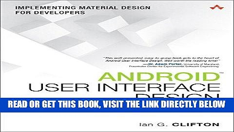 [Free Read] Android User Interface Design: Implementing Material Design for Developers (2nd