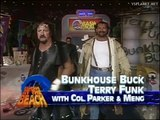 Terry funk and bunk house buck vs Dustin rhodes and arm Anderson at bash at the beach 1994