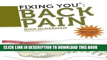 Ebook Fixing You: Back Pain 2nd edition: Self-Treatment for Back Pain, Sciatica, Bulging and