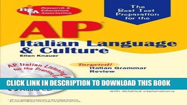 Read Now AP Italian Language and Culture w/ Audio CDs (Advanced Placement (AP) Test Preparation)