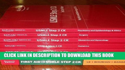 Read Now Kaplan Usmle Step 2 Ck Lecture Notes - 5 Books 2008 Edition, First  Aid For the USMLE,
