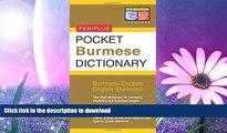 READ  Pocket Burmese Dictionary: Burmese-English English-Burmese (Periplus Pocket Dictionaries)