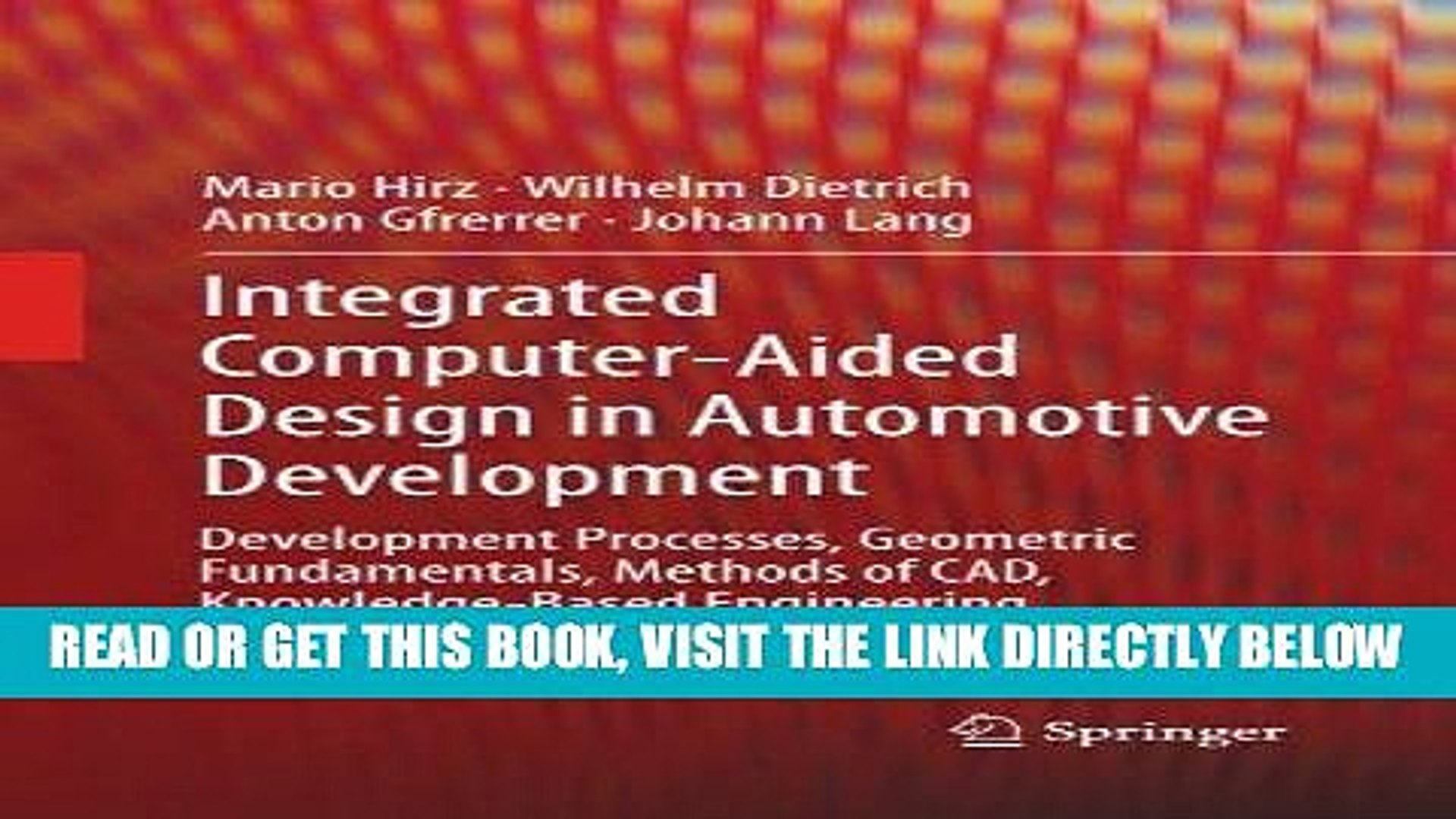 Read Ebook Integrated Computer Aided Design In Automotive Development Development Processes Video Dailymotion