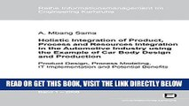 [FREE] EBOOK Holistic integration of product, process and resources integration in the automotive
