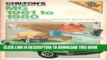 [New] Ebook Chilton s Repair   Tune-Up Guide: MG 1961 to 1980 (1100 1962-67, Midget 1961-80, MGB