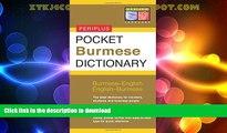 READ BOOK  Pocket Burmese Dictionary: Burmese-English English-Burmese (Periplus Pocket