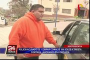 Independencia: Policía acusado de cobrar coima a taxista continúa laborando en comisaría