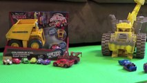 Cars 2 Dump Truck Tipping Colossus Tractor Tipping Micro Drifters Disney Pixar Screaming Banshee