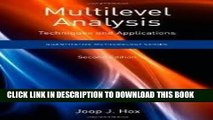 [PDF] FREE Multilevel Analysis: Techniques and Applications, (Quantitative Methodology Series) 2nd
