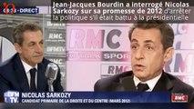 Nicolas Sarkozy refuse de répondre à LA question de Jean-Jacques Bourdin