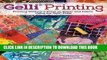 Best Seller Gelli Printing: Printing Without a Press on Paper and Fabric Free Download