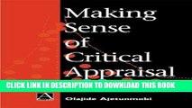 Best Seller Making Sense of Critical Appraisal (Hodder Arnold Publication) Free Download