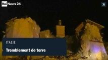 Tremblement de terre en Italie, effondrement d'une église