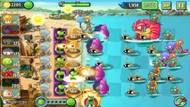 Plants Vs Zombies 2 - Gameplay Walkthrough - New Max Level Plants Chestnut Squad Repeater