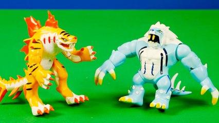 Mega figuras de Icelion y Tigershark   Invizimals