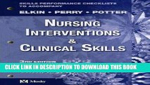 [READ] EBOOK Skills Performance Checklists for Nursing Interventions and Clinical Skills, 3e