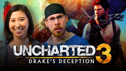 Let's Play UNCHARTED 3 (Part 2) with Erika Ishii and JoblessGarrett | Smasher Let's Play