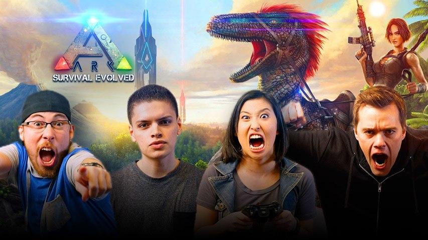 Let's Play ARK SURVIVAL EVOLVED with JoblessGarrett, Erika Ishii, RickyFTW and ArodGamez   Smasher