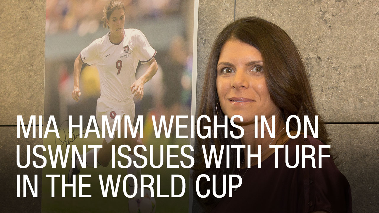 Mia Hamm Weighs In on USWNT Issues with Turf in the World Cup