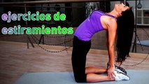 Ejercicios de estiramiento y flexibilidad