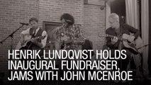 Henrik Lundqvist Holds Inaugural Fundraiser, Jams with John McEnroe