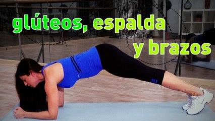 Rutina de entrenamiento. Ejercicios para glúteos, espalda y brazos