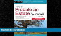 Books to Read  How to Probate an Estate in California (How to Probate an Estate in Calfornia)
