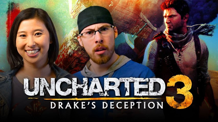 Let's Play UNCHARTED 3 (Part 3) with Erika Ishii and JoblessGarrett | Smasher Let's Play
