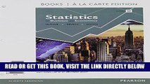 [Free Read] Statistics for Business and Economics, Student Value Edition (12th Edition) Full Online