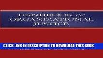 [Free Read] Handbook of Organizational Justice Free Online