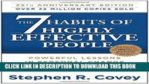Best Seller The 7 Habits of Highly Effective People: Powerful Lessons in Personal Change Free