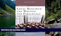 Big Deals  Legal Research   Writing for Paralegals Seventh Edition (Aspen College)  Best Seller