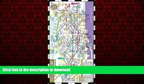 FAVORIT BOOK Streetwise Barcelona Metro Map - Laminated Metro Map of Barcelona Spain - Folding