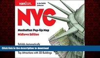 FAVORIT BOOK Pop-Up NYC Map by VanDam - City Street Map of New York City, New York - Laminated