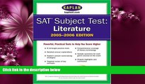 Fresh eBook SAT Subject Tests: Literature 2005-2006 (Kaplan SAT Subject Tests: Literature)