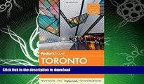 READ BOOK  Fodor s Toronto: with Niagara Falls   the Niagara Wine Region (Full-color Travel