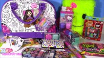 BRATZ Coloring Beauty Bag! Peanut Butter Lip Balm Hello Kitty Nail Kit! Eyeshadows! SHOPKINS FUN!