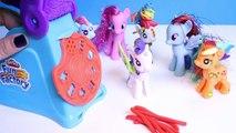 Играть doh Мой маленький пони Рэйнбоу Дэш, Эпплджек Мой маленький пони поп Zecora МЛП Хасбро игрушки