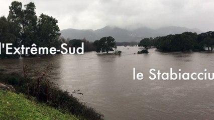VIDEO. Inondations dans l'Extrême Sud : le Stabiacciu est sorti de son lit