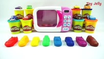 Play Doh Magic Microwave Oven Disney Cars Modeling Clay and Learn Numbers 1 to 10 with Toy cars