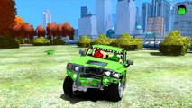 Colors Cars Hummer in Trouble! Nursery Rhymes New Colors Spiderman Songs for Children with Action
