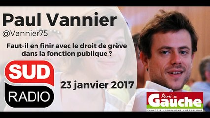 Paul Vannier - Sud Radio - 23 janvier 2017